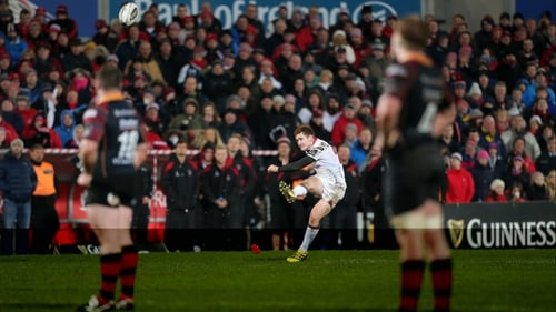 Paddy Jackson kicks the winning penalty late on