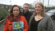 Sinn Féin's Mary Lou McDonald launched the party's childcare policy in Cabra