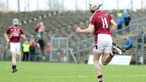 Neil McManus celebrates his goal