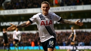 Kieran Trippier celebrates his winner