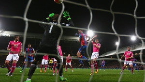 Scott Dann heads home an equaliser for Crystal Palace