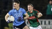 Diarmuid Connolly of Dublin evades Mayo's Colm Boyle