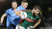 Aidan O'Shea was tightly marked by Dublin