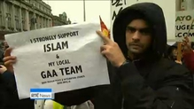 There were chaotic scenes in Dublin as Pegida attempted to hold a rally