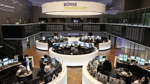 German stocks led the move downward, with the country's main DAX index down by over 0.2%, pulling the main pan-European broader Euro STOXX 600 index lower by a similar amount