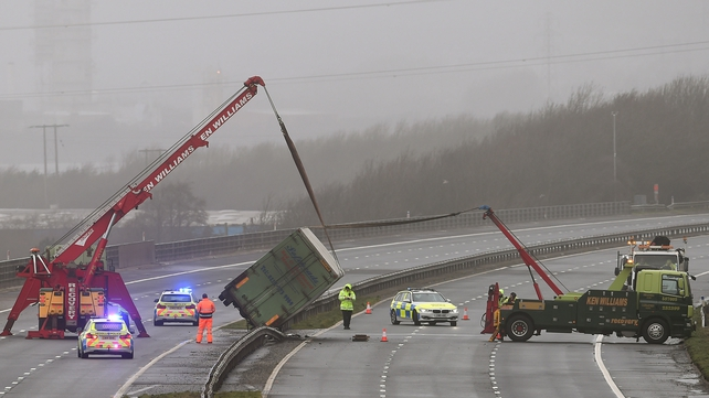 Wales and southern England have been battered by the strong winds