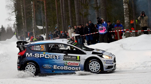 Elfyn Evans of Great Britain in action during last year's Rally Sweden