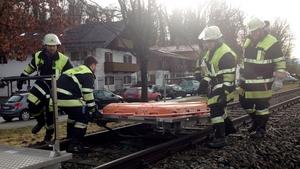 Rescue materials are brought to the scene