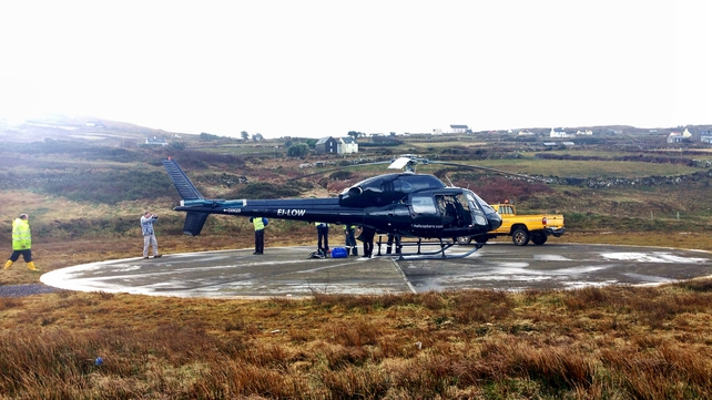 The ESB sent the helicopter to carry out repairs