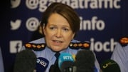 Commissioner Nóirín O'Sullivan speaking at a press conference this evening