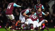 West Ham celebrate Angelo Ogbanna's last-gasp winner