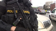 Armed police are on the streets of Dublin following the murders of David Byrne and Eddie Hutch senior.