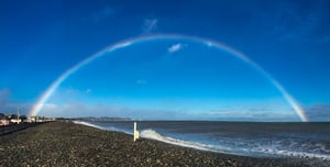 Rainbow over Bray, Co Wicklow (Pic: Sarah Murphy)