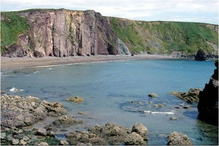 Part of the Copper Coast cliffs