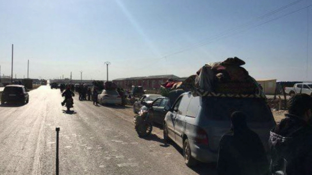 Vehicles on the roads surrounding the Kilis Turkish border camp (Pic: Facebook/IHH Humanitarian Relief Foundation)