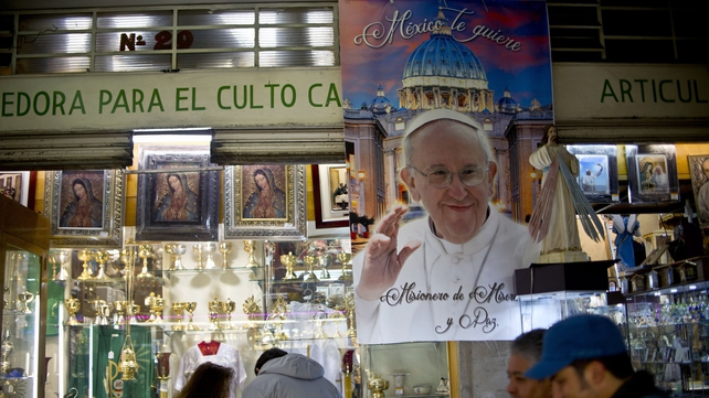 It comes ahead of the start of  Pope Francis Mexico trip