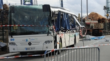 The bus was carrying about 17 people when it crashed near Rochefort