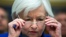Investors are wary of Ms Yellen hinting at a near-term interest rate hike