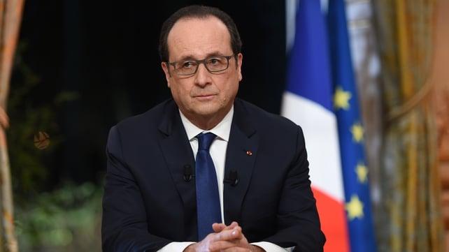 Hollande has urged Russia to halt its support of Bashar al-Assad