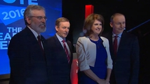 The four mainparty leaders took part in the debate