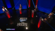 The first leaders' debate of the campaign is under way