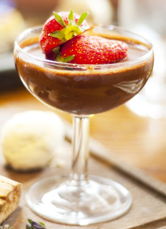 Chocolate Mousse with Candied Hazelnuts and Chocolate Soil