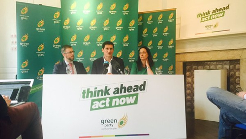 The Green Party launched their manifesto at the Molesworth Gallery in Dublin