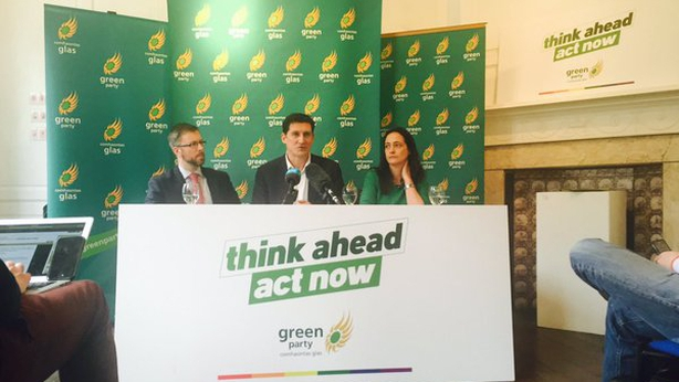 Green Party manifesto launch, Pic: Michael Mac Suibhne, Twitter