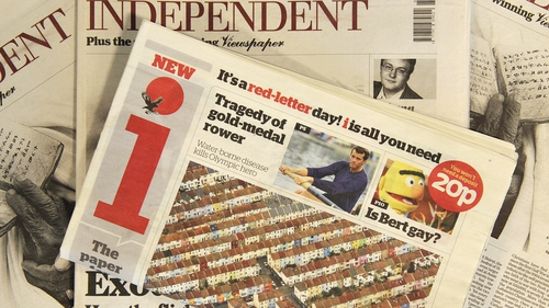 UK Independent's owner to sell its sister paper i to Johnston Press for £24m