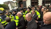 Protesters opposed to water charges were waiting for the Taoiseach in Cork today