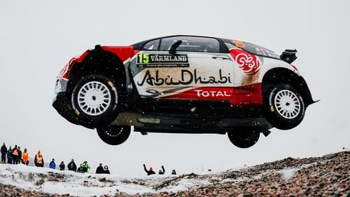 Craig Breen takes the aerial route in Sweden