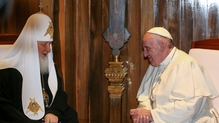 Patriarch Kirill and Pope Francis in a historic first meeting