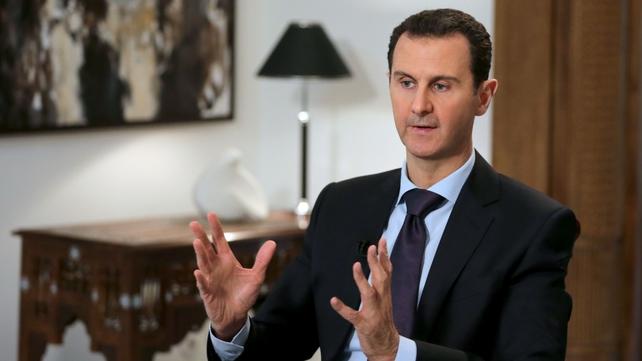 Bashar al-Assad said he would not stop fighting 'terrorism'