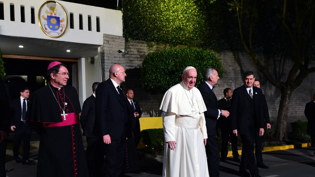Francis flew into Mexico City on last night for his first visit as leader of the Catholic Church