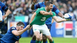 Rob Kearney saw his brother Dave depart Saturday's defeat in Paris due to injury