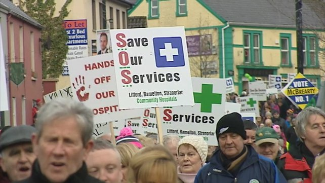 The protesters marched from the hospital in Stranorlar all the way to the centre of Ballybofey