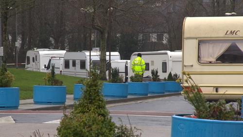 The nine Traveller familieshad been givena legal warning to vacate the areaby Galway City Council