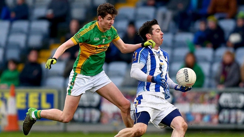 Michael Darragh MacAuley of Ballyboden with Jack Kennedy of Clonmel