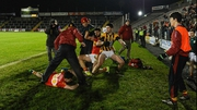 A number of Castlebar Mitchels and Crossmaglen Rangers players became embroiled in a scuffle at the end of their semi-final