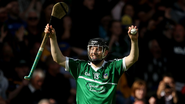 Graeme Mulcahy scored one of Limerick's two goals at the Gaelic Grounds