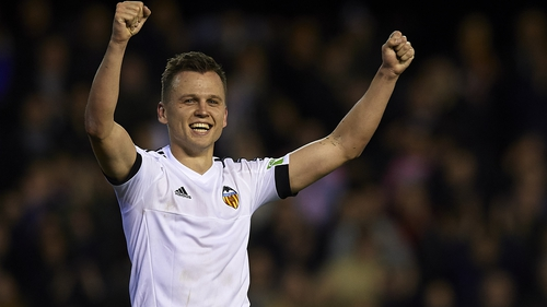 Denis Cheryshev celebrates his goal