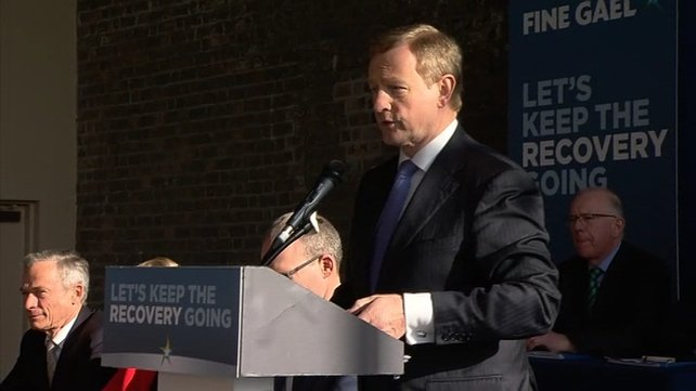 Enda Kenny said it was not the time to take risks with the economy and he added that political stability and economic stability go hand in hand