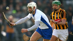 Shane Fives keeps his eye on the ball under pressure playing for Waterford against Kilkenny