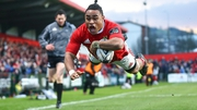 Munster's Francis Saili scores his side's second try