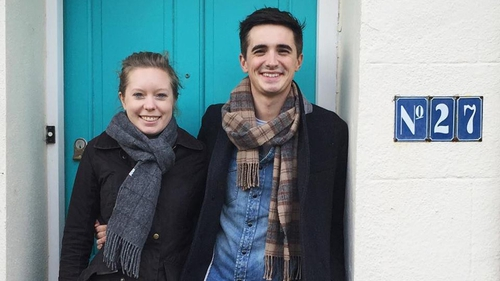 Donal Skehan and wife Sofie Larsson wave goodbye to Howth
