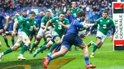 Action from last year's France v Ireland clash in Paris