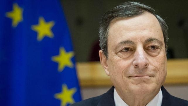 Mario Draghi says the ECB will reconsider its monetary policy stance in early March