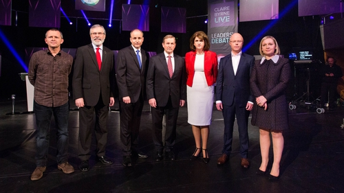 Seven-way leaders' debate took place in Limerick on 15 February