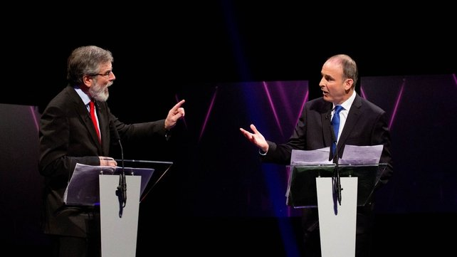 Gerry Adams and Micheál Martin disagreed on a number of points