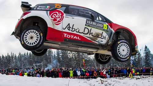 Craig Breen in action during Rally Sweden